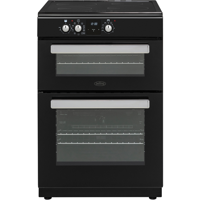 Belling FSI608MFTc 60cm Electric Cooker with Induction Hob - Black - A/A Rated - FSI608MFTc_BK - 1