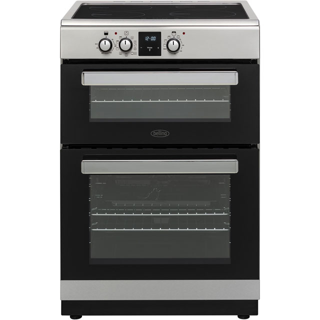 Belling FSI608MFTc Electric Cooker with Induction Hob - Stainless Steel - A/A Rated