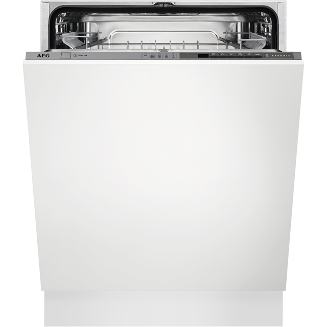 AEG FSS52615Z Fully Integrated Standard Dishwasher - Stainless Steel Control Panel - A++ Rated - FSS52615Z_SS - 1