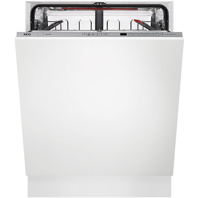 AEG Fully Integrated Standard Dishwasher - Silver with Sliding Door Fixing Kit - A++ Rated