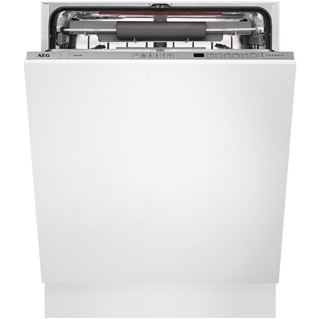 AEG FSS62700P Fully Integrated Standard Dishwasher - Silver Control Panel with Sliding Door Fixing Kit - A++ Rated - FSS62700P_SI - 1