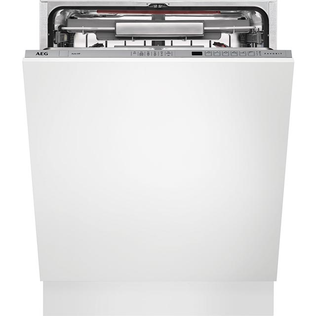 AEG ComfortLift FSS62800P Fully Integrated Standard Dishwasher - Silver Control Panel with Sliding Door Fixing Kit - A++ Rated