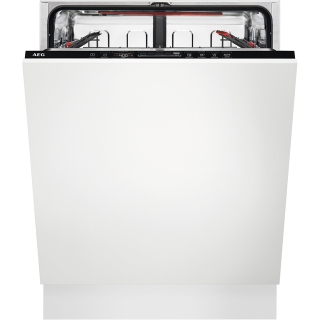 AEG FSS63607P Fully Integrated Standard Dishwasher - Black Control Panel with Sliding Door Fixing Kit - A+++ Rated - FSS63607P_BK - 1