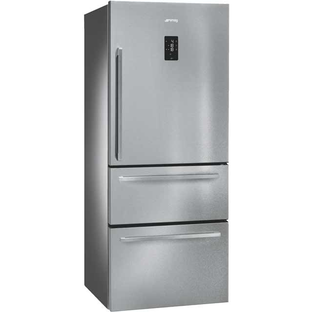 Smeg FT41BXE Frost Free Fridge Freezer - Stainless Steel - FT41BXE_SS - 1