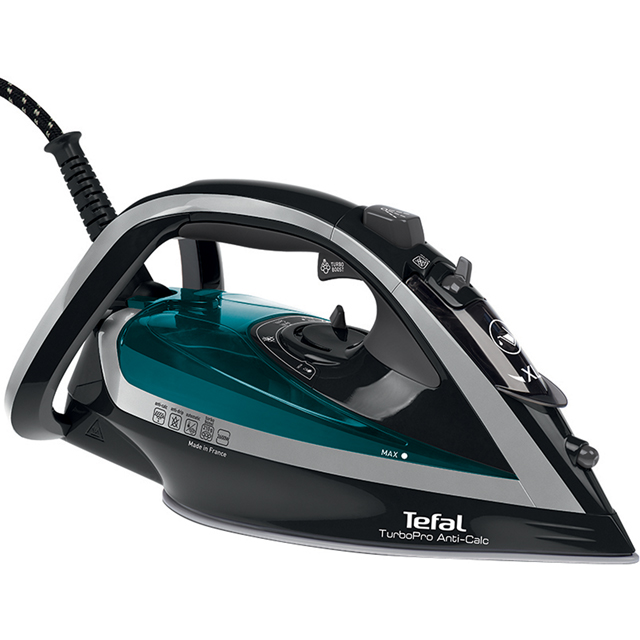 Tefal Turbo Pro Anti-Scale FV5640 2600 Watt Iron -Green / Black