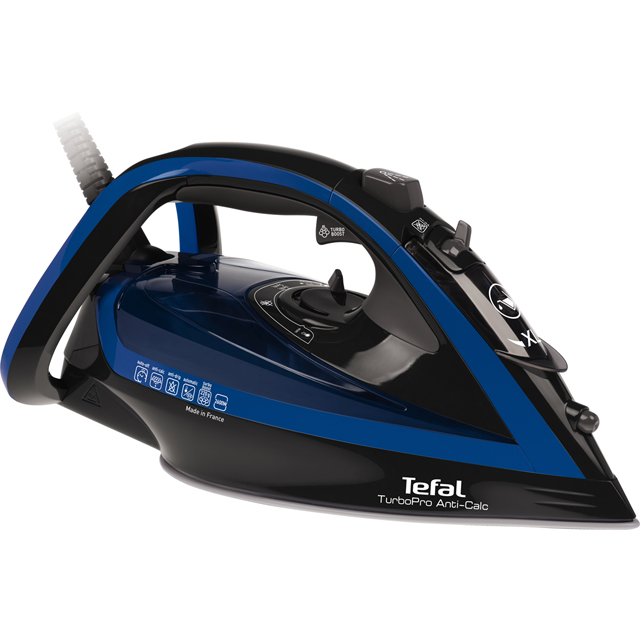 Tefal Turbo Pro Anti-Scale FV5648 2600 Watt Iron -Blue / Black - FV5648_BL - 1