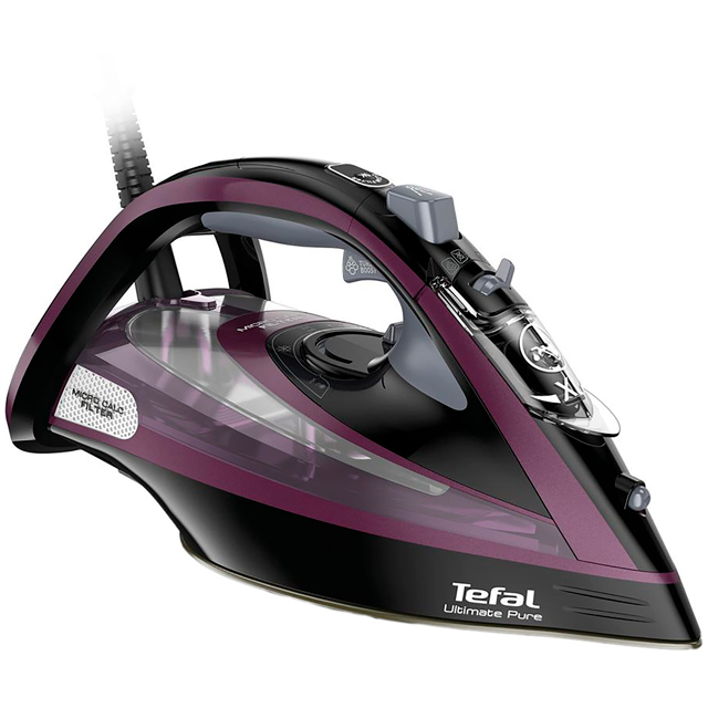 Tefal Ultimate Pure FV9830 3000 Watt Iron -Black / Purple