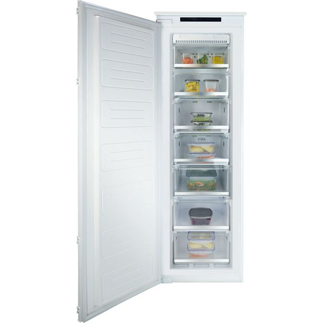CDA FW882 Integrated Frost Free Upright Freezer with Sliding Door Fixing Kit - A+ Rated