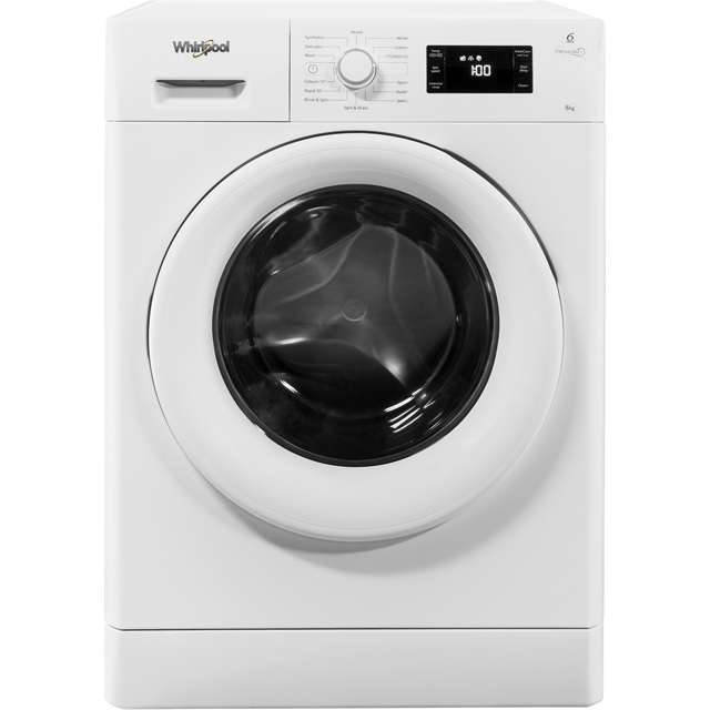 Whirlpool FreshCare+ FWG81496W 8Kg Washing Machine with 1400 rpm - White - A+++ Rated - FWG81496W_WH - 1