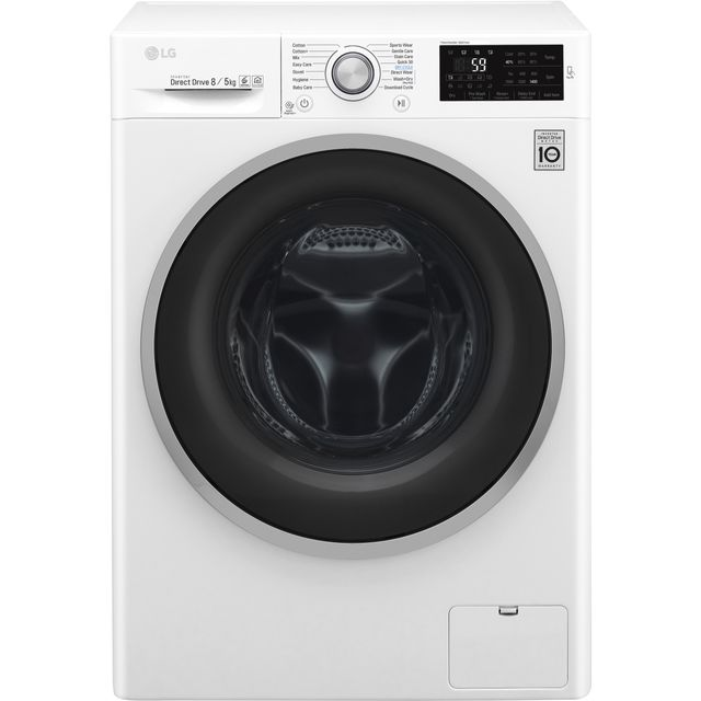 LG J6 FWJ685WN 8Kg / 5Kg Washer Dryer with 1400 rpm - White - A Rated - FWJ685WN_WH - 1