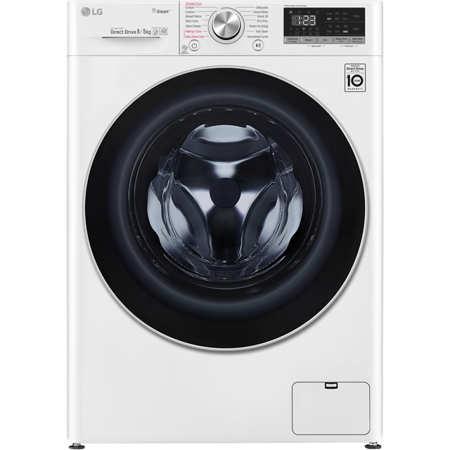 LG V5 FWV585WS Wifi Connected 8Kg / 5Kg Washer Dryer with 1400 rpm - White - A Rated - FWV585WS_WH - 1