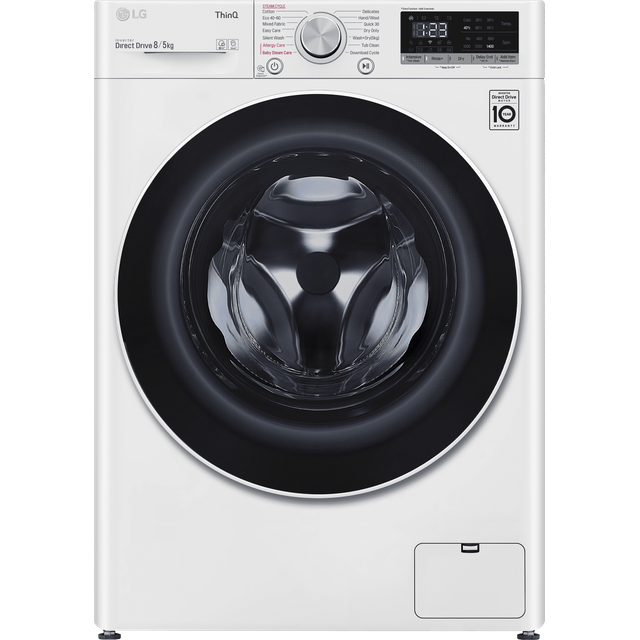 LG V5 FWV585WSE Wifi Connected 8Kg / 5Kg Washer Dryer with 1400 rpm - White - A Rated