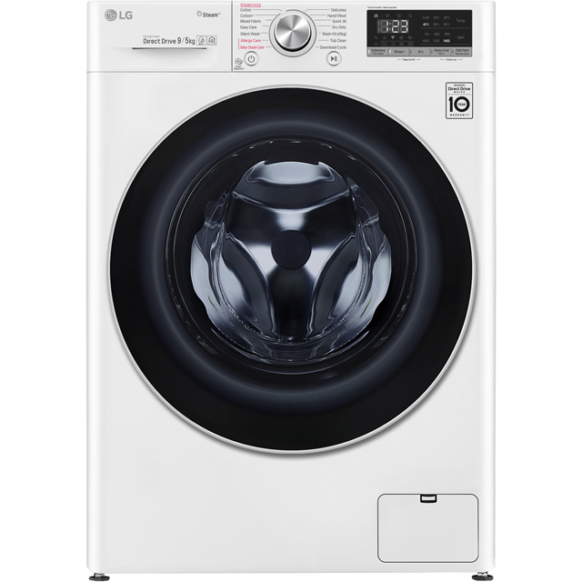 LG V5 FWV595WS Wifi Connected 9Kg / 5Kg Washer Dryer with 1400 rpm - White - A Rated - FWV595WS_WH - 1