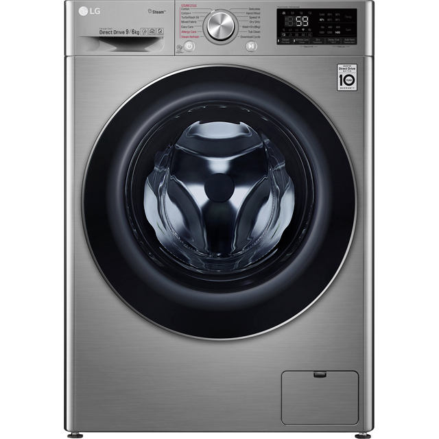 LG V7 FWV796STS Wifi Connected 9Kg / 6Kg Washer Dryer with 1400 rpm - Graphite - A Rated - FWV796STS_GH - 1