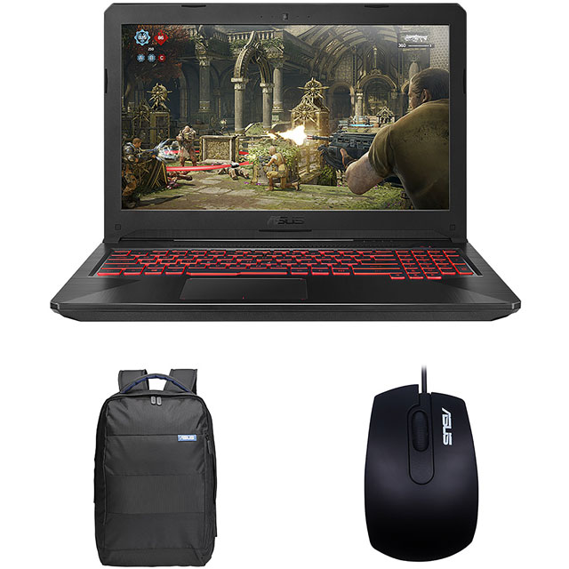 "Asus TUF FX504GM 15.6"" Gaming Laptop Includes Bag & Mouse - Black"
