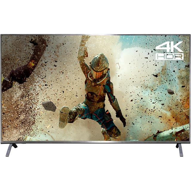 "Panasonic TX-55FX700B 55"" Smart 4K Ultra HD TV with HDR and Freeview Play - Black - [A Rated] - TX-55FX700B - 1"