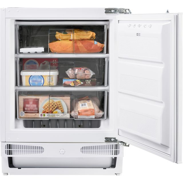 Belling FZ609 Integrated Under Counter Freezer with Fixed Door Fixing Kit - A+ Rated - FZ609_WH - 1