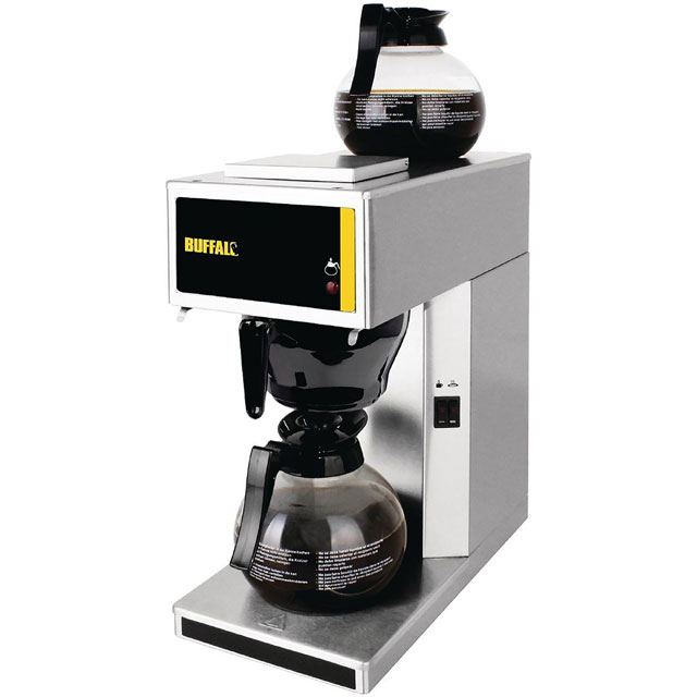 Buffalo G108 Commercial Filter Coffee Machine - Brushed Steel - G108_BS - 1