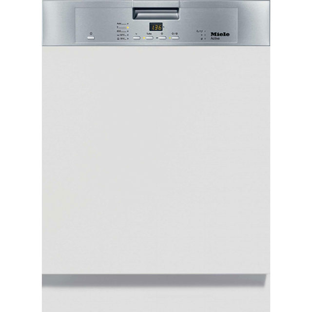 Miele G4203i Semi Integrated Standard Dishwasher - Clean Steel Control Panel - A+ Rated