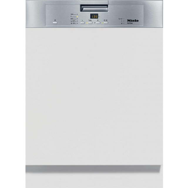 Miele G4203i Semi Integrated Standard Dishwasher - Clean Steel Control Panel with Fixed Door Fixing Kit - A+ Rated - G4203i_CS - 1