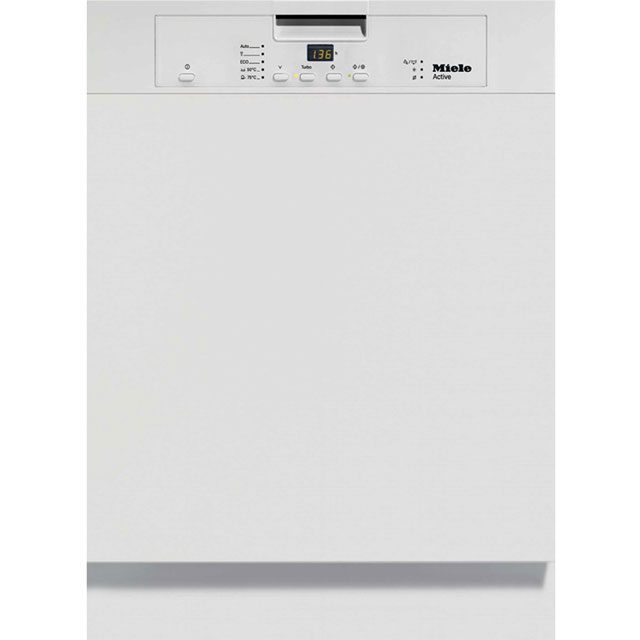 Miele Semi Integrated Standard Dishwasher - White with Fixed Door Fixing Kit - A+ Rated