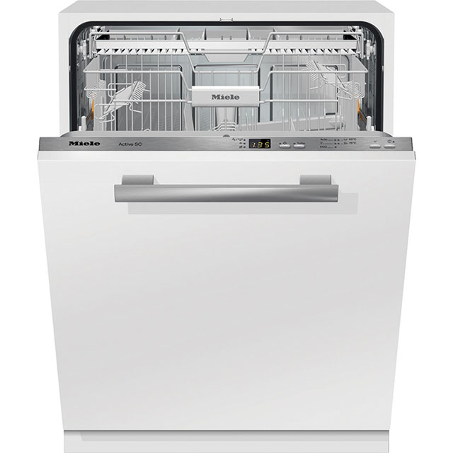 Miele G4268SCViXXL Fully Integrated Standard Dishwasher - Clean Steel Control Panel with Fixed Door Fixing Kit - A+ Rated - G4268SCViXXL_CS - 1