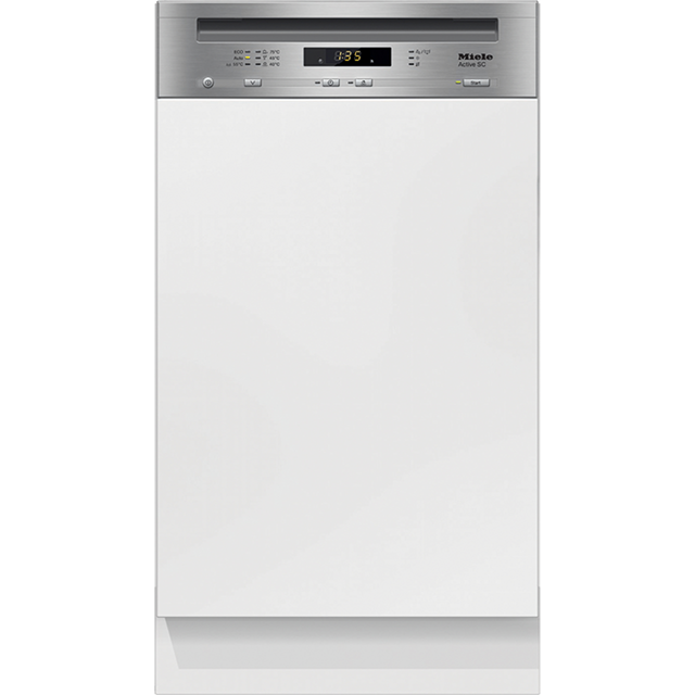 Miele G4620SCi Semi Integrated Slimline Dishwasher - Clean Steel Control Panel with Fixed Door Fixing Kit - A+ Rated - G4620SCi_CS - 1