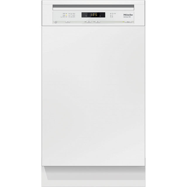 Miele Semi Integrated Slimline Dishwasher - White Control Panel with Fixed Door Fixing Kit - A+ Rated