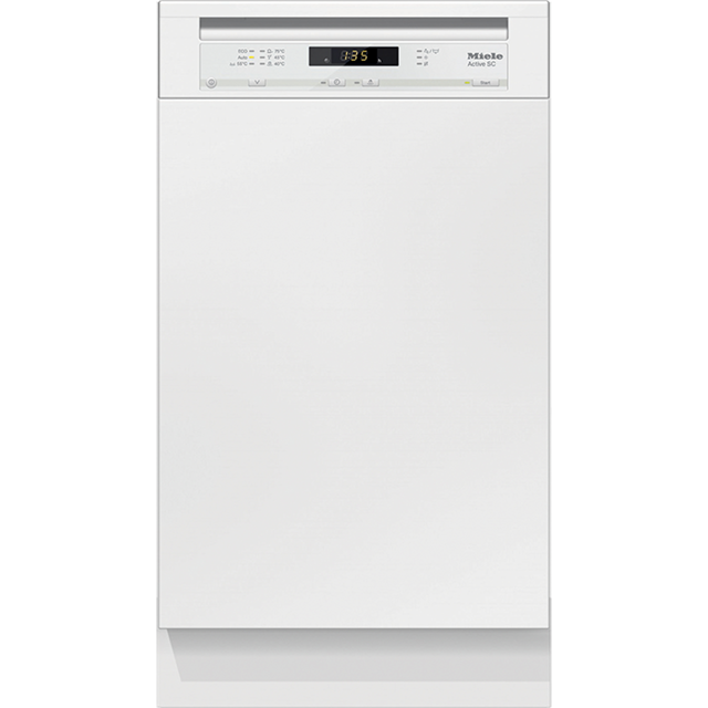 Miele G4620SCi Semi Integrated Slimline Dishwasher - White Control Panel with Fixed Door Fixing Kit - A+ Rated - G4620SCi_WH - 1
