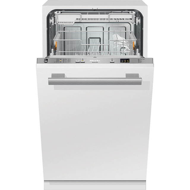 Miele G4680SCVi Fully Integrated Slimline Dishwasher - Clean Steel Control Panel - A+ Rated