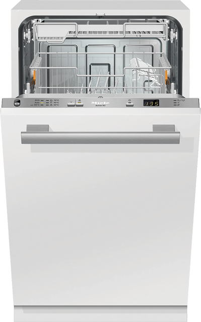Miele G4680SCVi Fully Integrated Slimline Dishwasher - Clean Steel Control Panel with Fixed Door Fixing Kit - A+ Rated - G4680SCVi_CS - 1