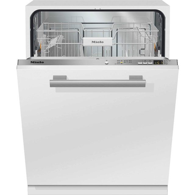 Miele Jubilee Fully Integrated Standard Dishwasher - Clean Steel with Fixed Door Fixing Kit - A++ Rated