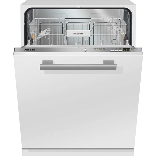 Miele Jubilee G4990Vi Fully Integrated Standard Dishwasher - Clean Steel Control Panel with Fixed Door Fixing Kit - A++ Rated - G4990Vi_CS - 1