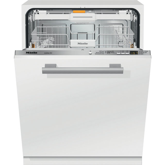 Miele Fully Integrated Standard Dishwasher - Clean Steel with Fixed Door Fixing Kit - A++ Rated
