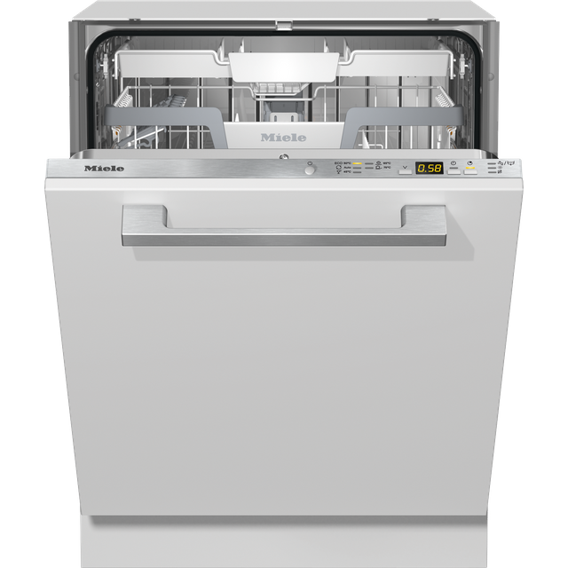 Miele G5272SCVi Fully Integrated Standard Dishwasher - Clean Steel