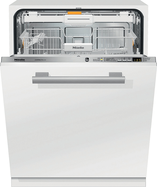 Miele G6060SCVi Fully Integrated Standard Dishwasher - Clean Steel Control Panel with Fixed Door Fixing Kit - A+++ Rated - G6060SCVi_CS - 1