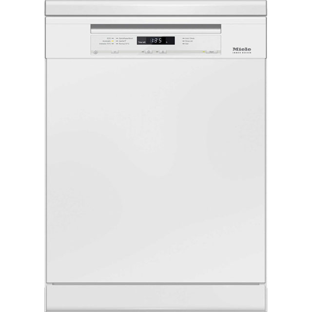 Miele Semi Integrated Standard Dishwasher - White with Fixed Door Fixing Kit - A+++ Rated