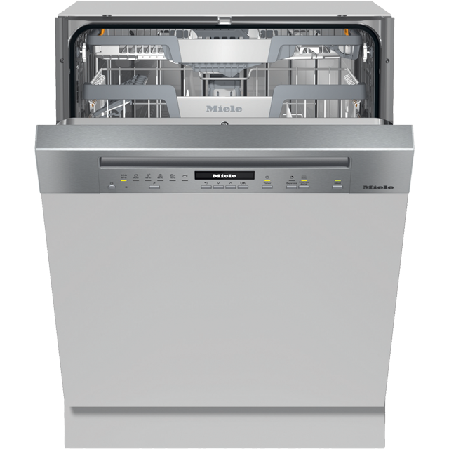 Miele G7100SCi Semi Integrated Standard Dishwasher - Clean Steel Control Panel with Fixed Door Fixing Kit - A+++ Rated - G7100SCi_CS - 1