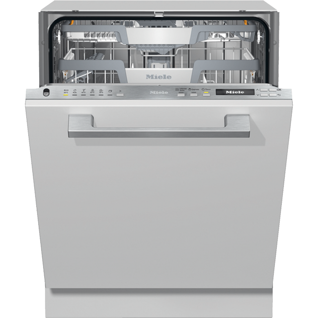 Miele G7152SCVi Fully Integrated Standard Dishwasher - Clean Steel Control Panel with Fixed Door Fixing Kit - C Rated
