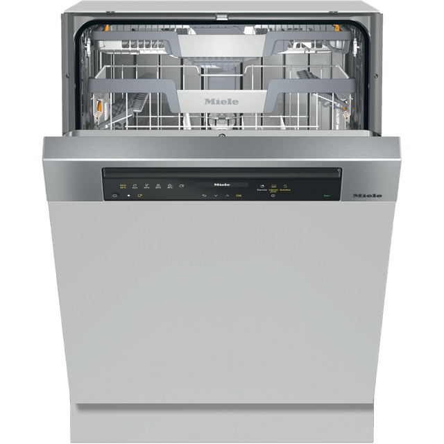 Miele G7315SCiXXL Wifi Connected Semi Integrated Standard Dishwasher - Clean Steel Control Panel with Fixed Door Fixing Kit - A+++ Rated - G7315SCiXXL_CS - 1