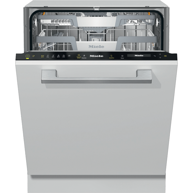 Miele G7362SCVi Wifi Connected Fully Integrated Standard Dishwasher - Clean Steel Control Panel with Fixed Door Fixing Kit - A+++ Rated - G7362SCVi_CS - 1