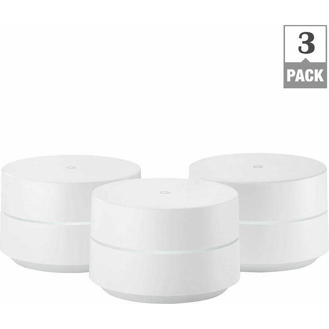 Google WiFi Dual Band AC1200 Mesh Network (3 Pack) - GA00158-UK - 1