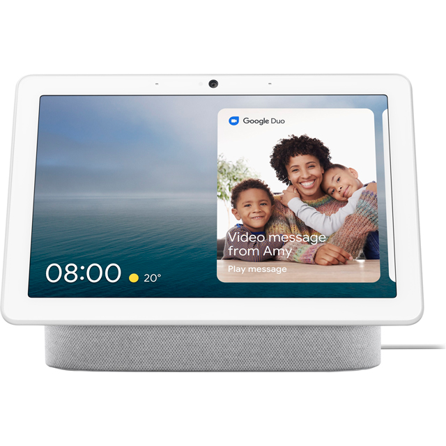 "Google Nest Hub Max with Google Assistant - 10"" Screen - Chalk"