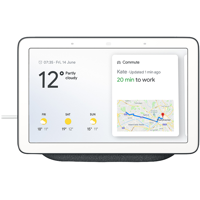 "Google Home Hub with Google Assistant - 7"" Screen - Anthracite"