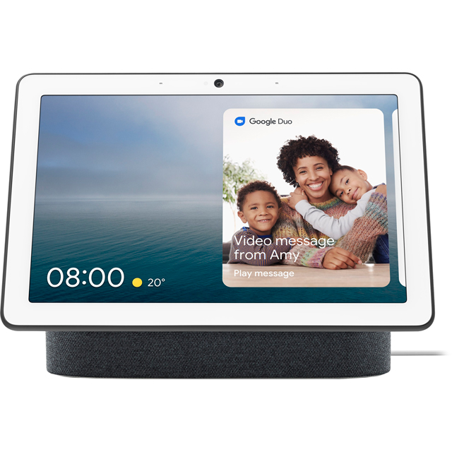 "Google Nest Hub Max with Google Assistant - 10"" Screen - Charcoal - GA00639-GB - 1"