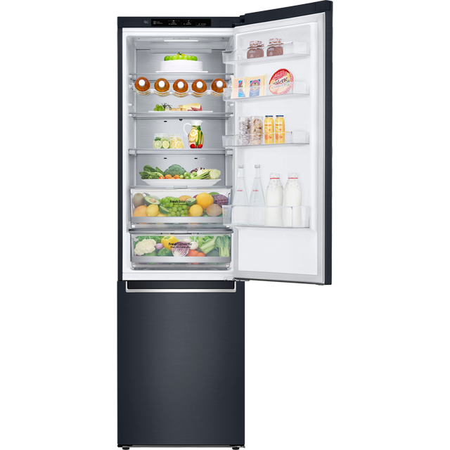 LG Centum™ GBB92MCBKP Wifi Connected 70/30 Frost Free Fridge Freezer -  Matte Black - A+++ Rated