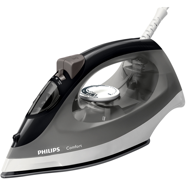Philips Comfort Steam GC1437/80 2000 Watt Iron -Black / Grey - GC1437/80_BKGR - 1