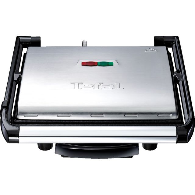 Tefal Inicio Grill GC241D40 Health Grill - Stainless Steel / Black - GC241D40_SSB - 1