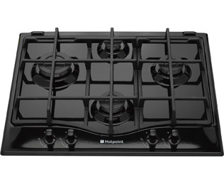 Product image for Hotpoint Ultima GC641IK 59cm Gas Hob - Black