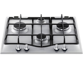 Product image for Hotpoint Ultima GC641IX 59cm Gas Hob - Stainless Steel